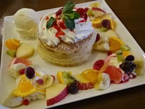カフェチャクラ フルーツパンケーキ (6)