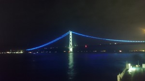 明石海峡大橋 ジャンボフェリーから (4)