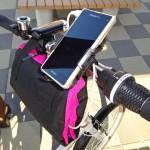 【これはイケル!】輪行バッグをスマホのポータブル充電器ホルダー代わりに使ってみた!