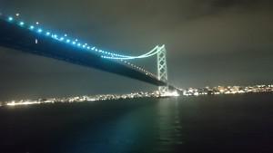 明石海峡大橋 ジャンボフェリーから (1)