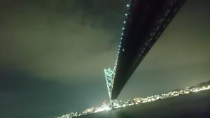 明石海峡大橋 ジャンボフェリーから (2)