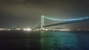 明石海峡大橋 ジャンボフェリーから (3)